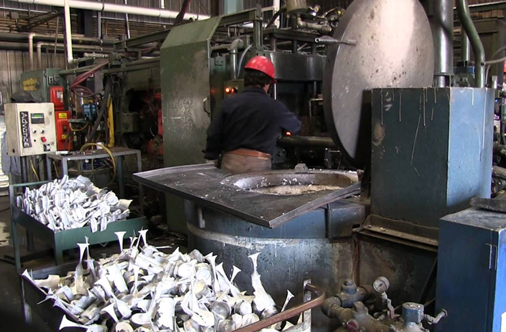 Die casting is a metal casting process characterized by forcing molten metal under high pressure into a mold cavity.